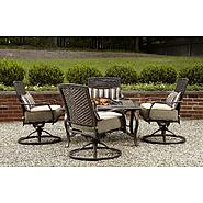 La-Z-Boy Outdoor McKenna 5pc Fire Pit Chat Set at Kmart.com