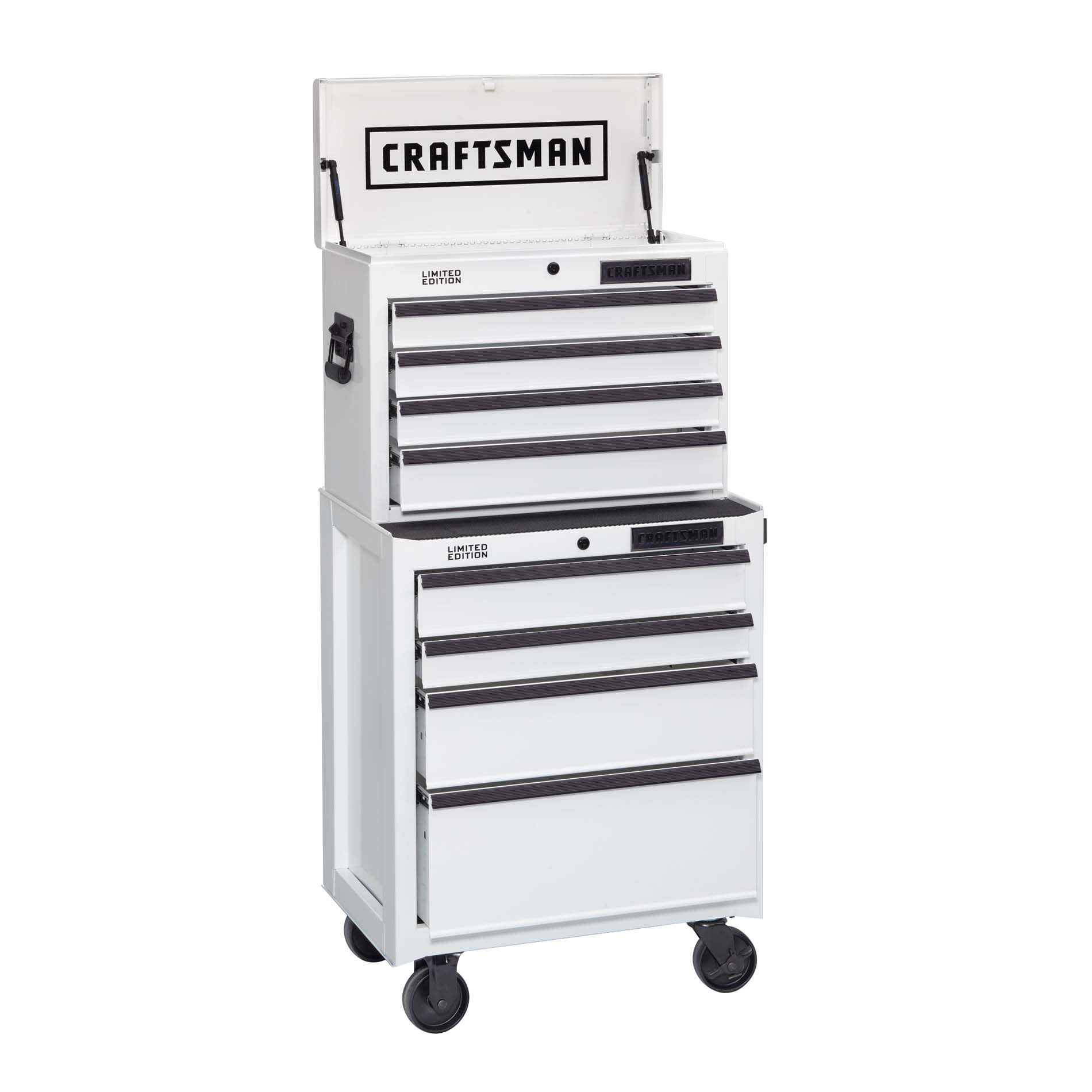 -8-Drawer Ball-Bearing Tool Storage Combo - White Dry Erase (Limited Edition)