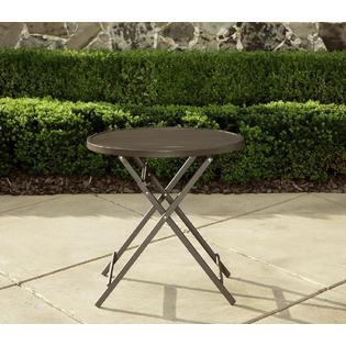 La Z Boy Outdoor Alex 28in Slat Folding Bistro Table