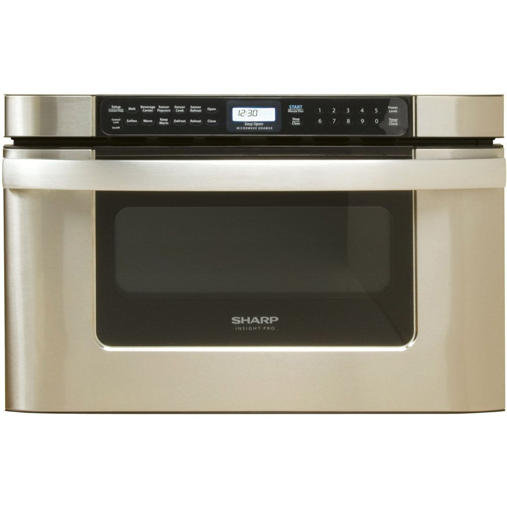 Sharp 24 1000W Insight Pro Stainless Steel Microwave Drawer Oven