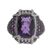 Pretty in Pave™ Sterling Silver Amethyst Claw Ring at Sears.com