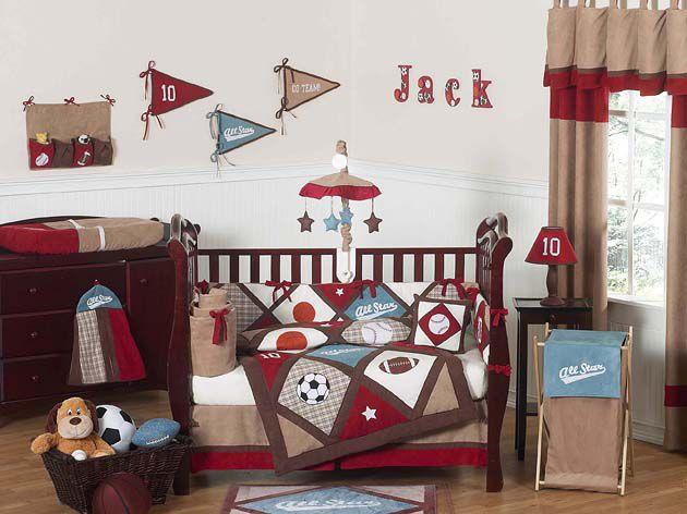 Sweet Jojo Designs All Star Sports Collection 9pc Crib Bedding Set