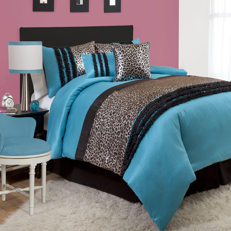 Lush D��cor Kenya 6-pc Blue Comforter Set Full Juvy