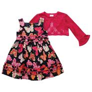 Youngland Infant/Toddler Girl's Dress with Sweater Hologram Butterfly Navy at Sears.com