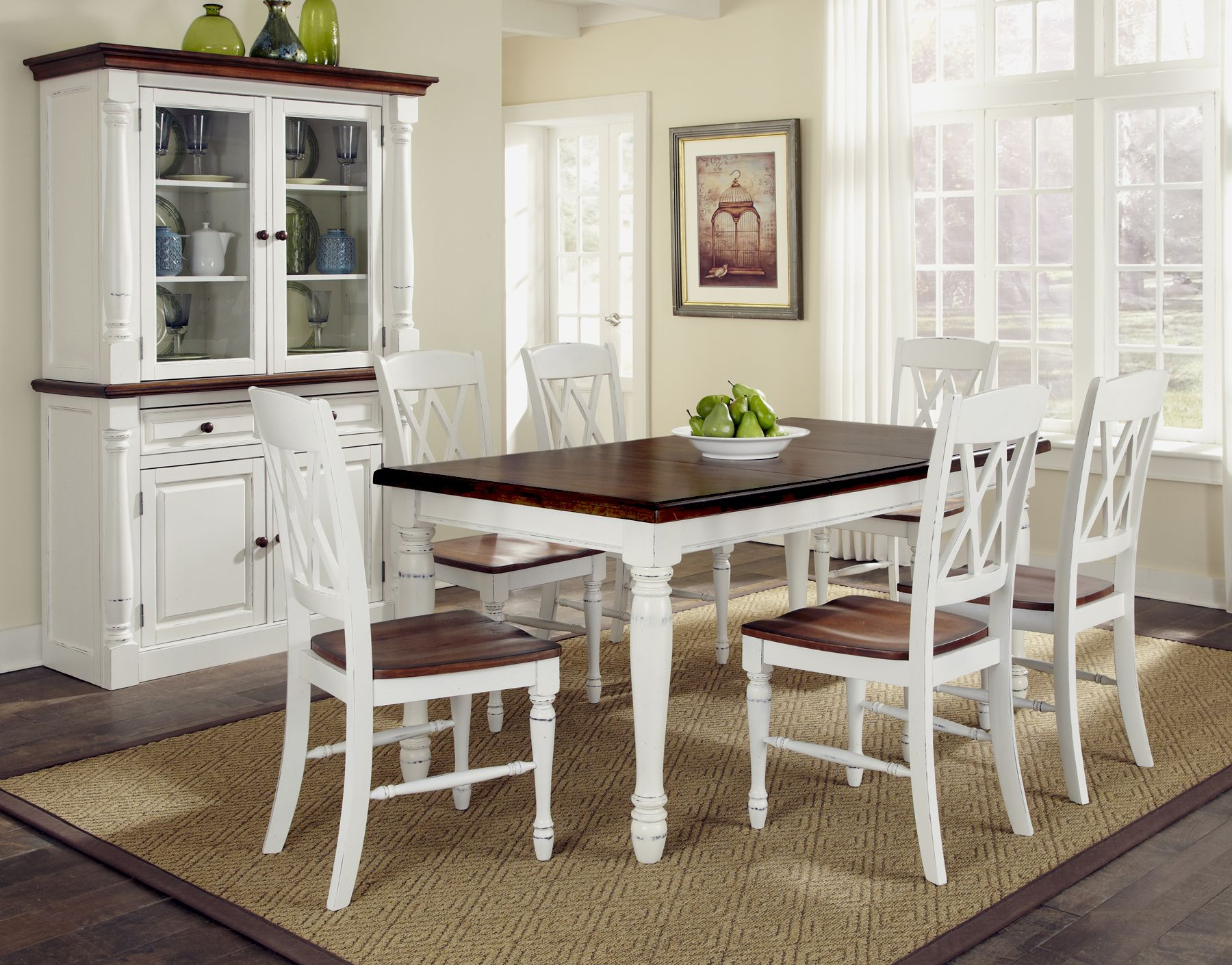 Monarch Rectangular Dining Table and Six