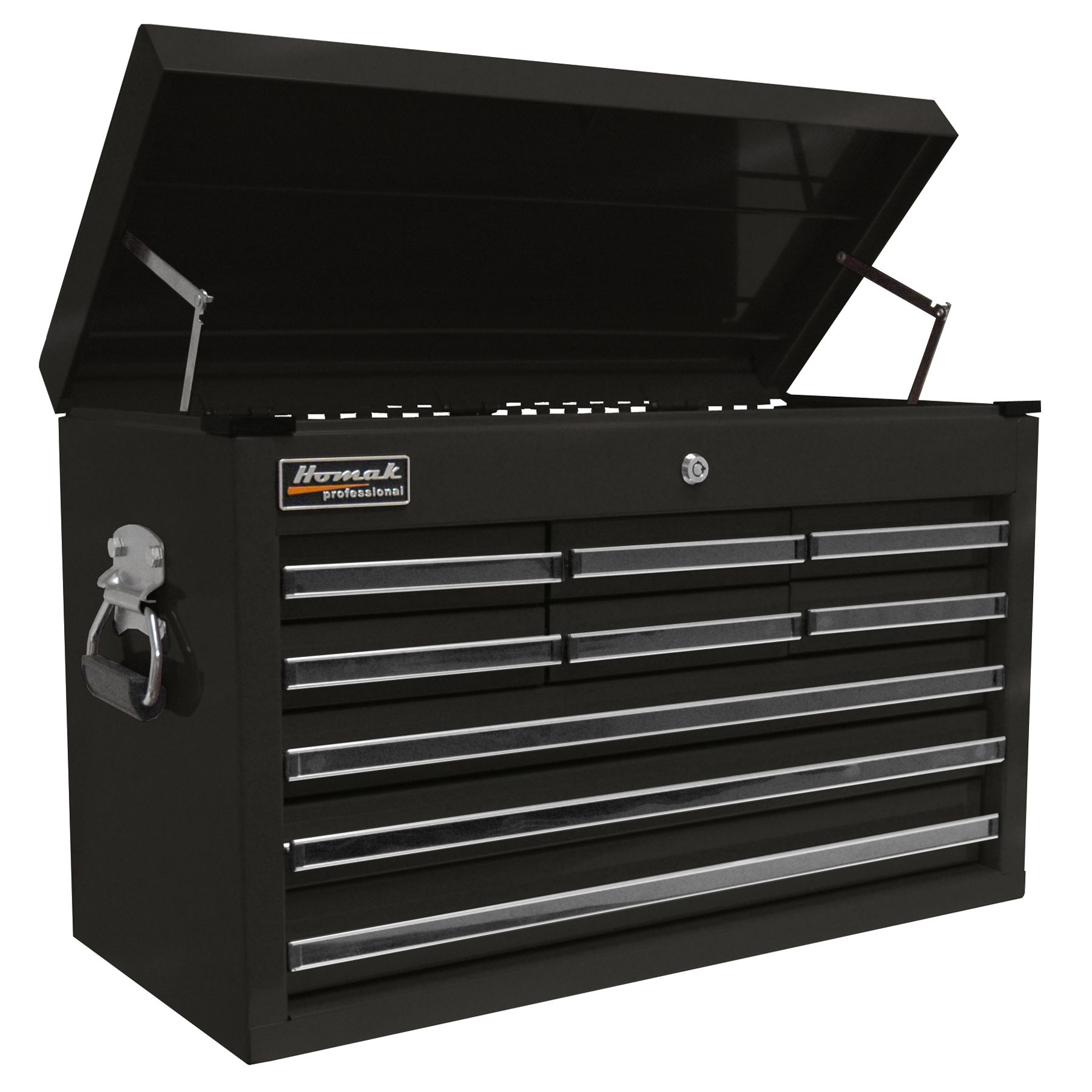 Homak  27'' Professional Series Black 9-Drawer Top Chest Black