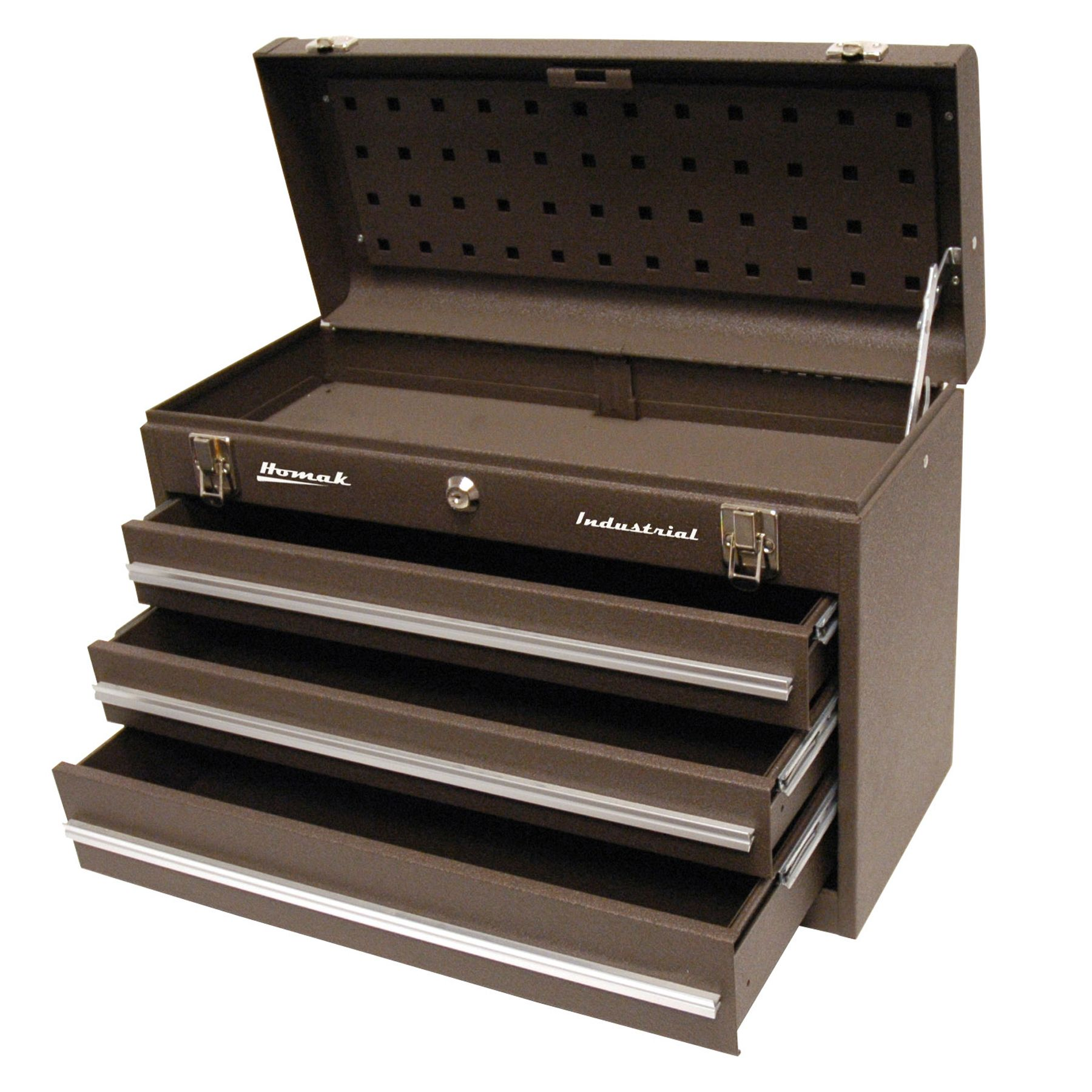 20in 3 Drawer Friction Toolbox - Brown