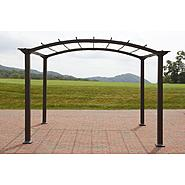 Garden Oasis 8ft x 10ft Steel Pergola with Open Roof at Kmart.com