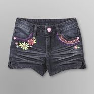 Toughskins Girl's Denim Shorts - Flowers at Kmart.com