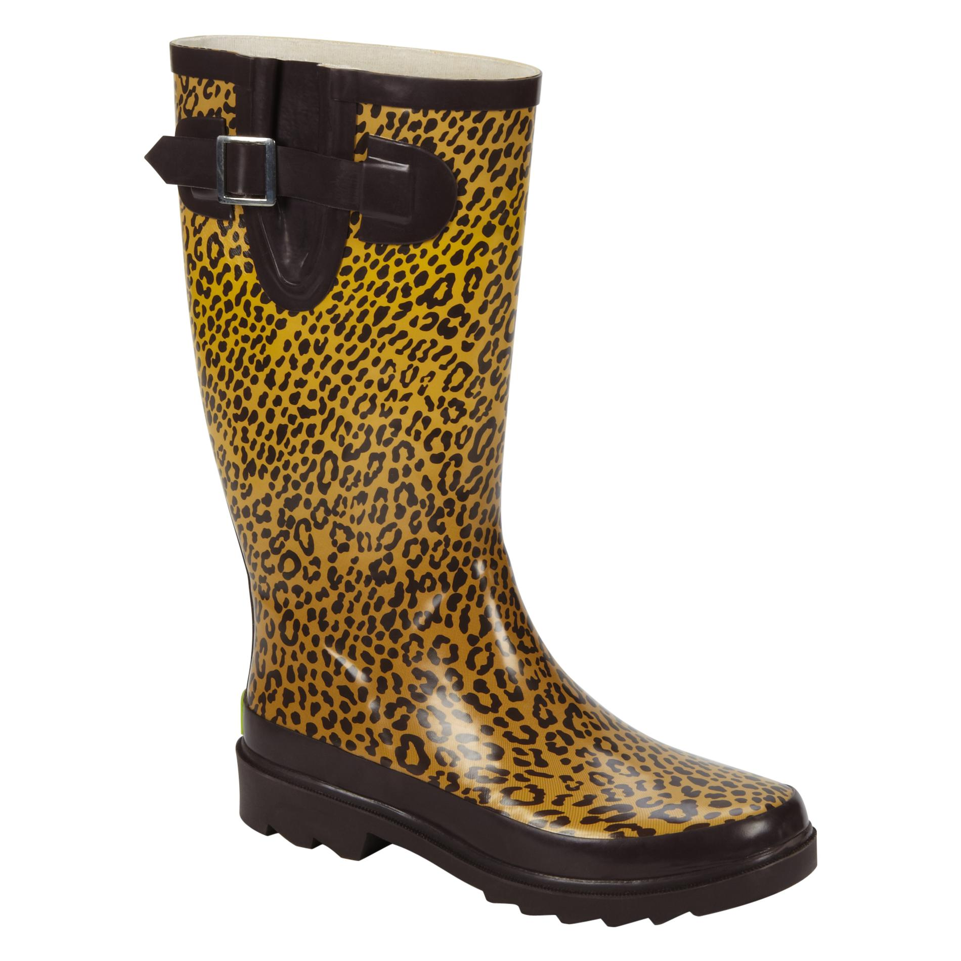 Western Chief  Women's Rain Boot - Tight - Leopard