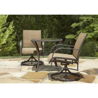 Garden Oasis Dewitt 3pc Bistro Set Limited Availability Outdoor Living Patio Furniture