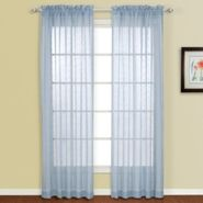 "United Curtain Company Isabella 52"" x 84"" panel with eyelash design available in blue, chocolate, natural/oyster & taupe at Kmart.com"