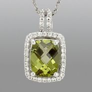Peridot & Lab Created White Sapphire Pendant at Sears.com