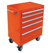 "Viper Tool Storage 26"" 5 Drawer 18G Steel Rolling Cabinet, Orange at Sears.com"