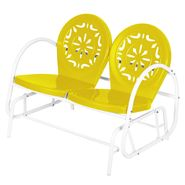 Garden Oasis Retro Steel Clam Glider - Yellow at Kmart.com