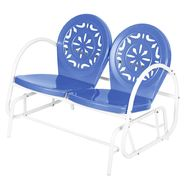 Garden Oasis Retro Steel Clam Glider - Blue at Kmart.com