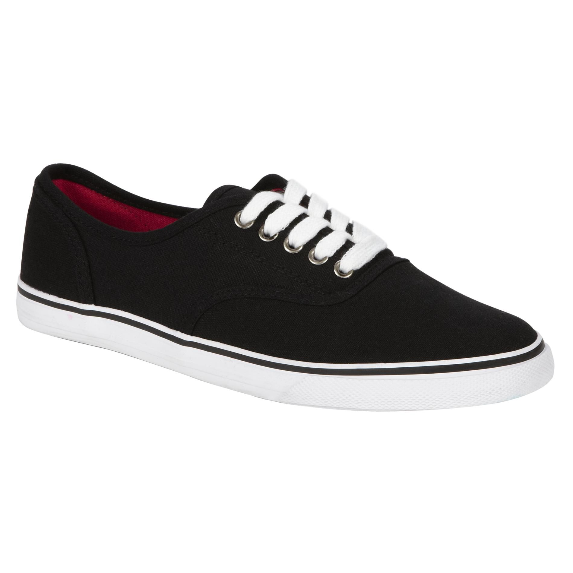 Women's Seattle Black Canvas Casual Shoes