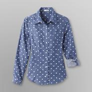 Bongo Junior's Chambray Shirt - Polka Dots at Sears.com