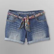 Canyon River Blues Women's Belted Denim Shorts at Kmart.com