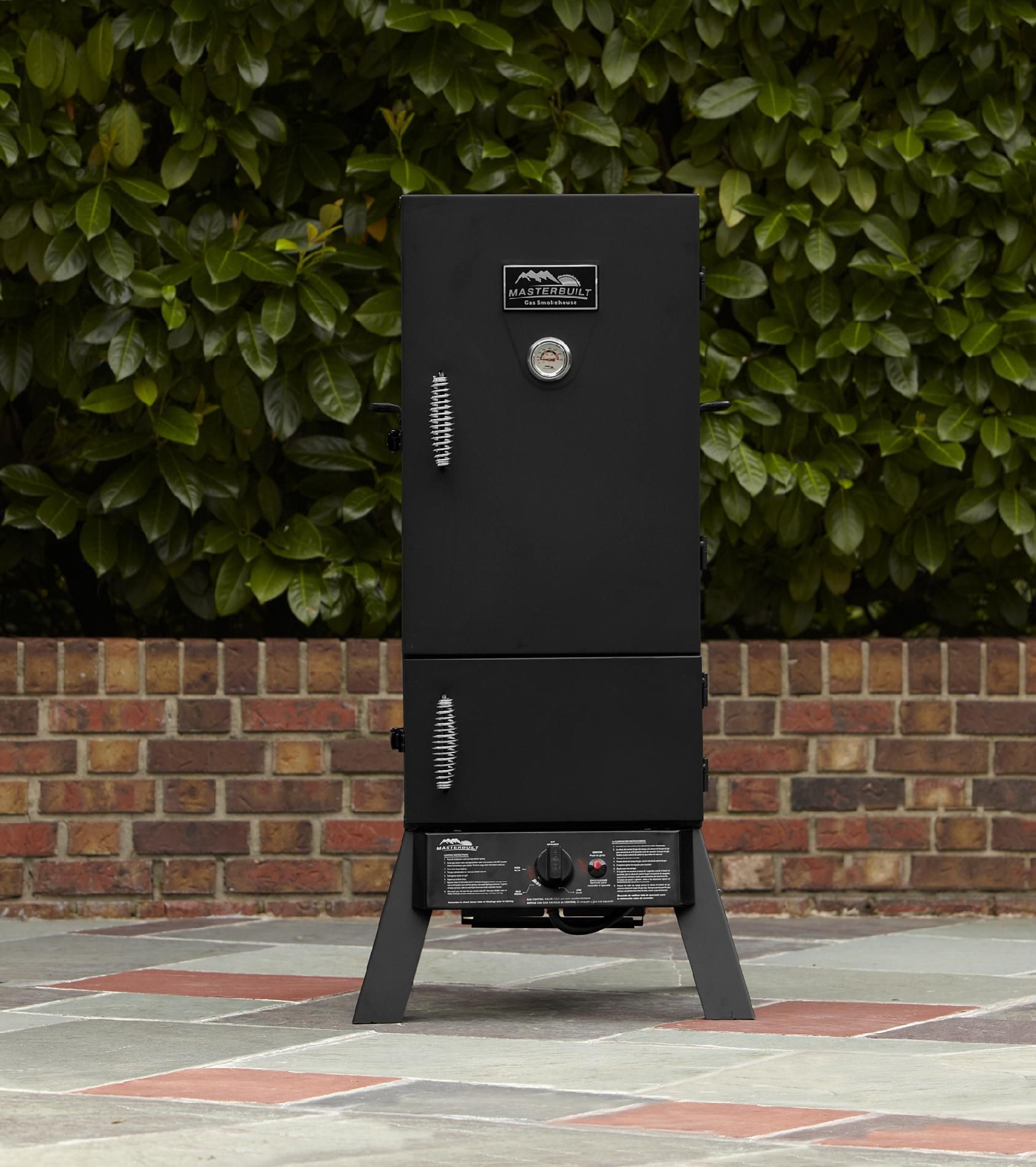 Vertical Gas Smoker with Dual Door