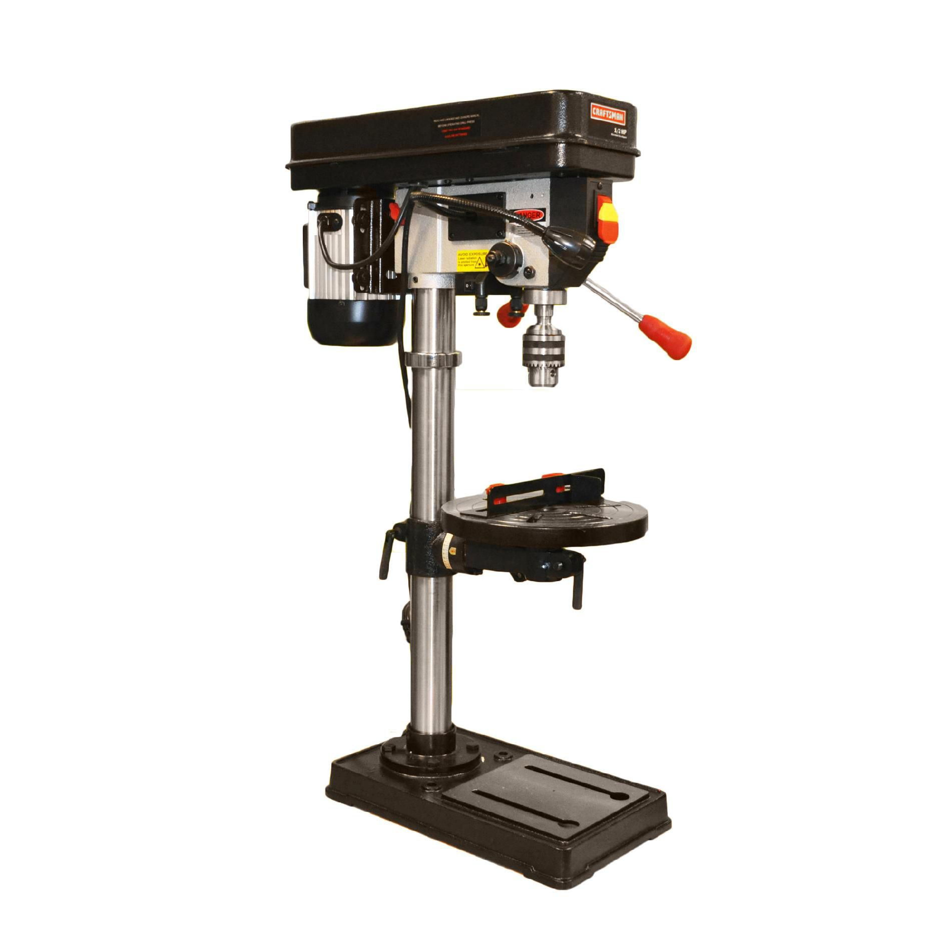 "Craftsman 12"" Drill Press With Laser And LED Light"