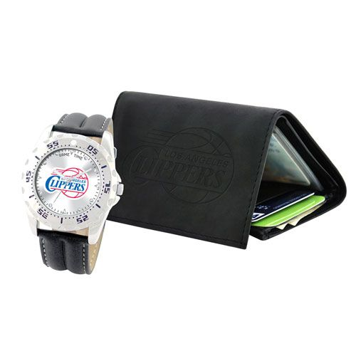 NBA  LA CLIPPERS WATCH and WALLET Gift Set