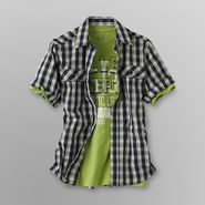 Canyon River Blues Boy's Plaid Shirt and T-Shirt - Athletic League at Sears.com