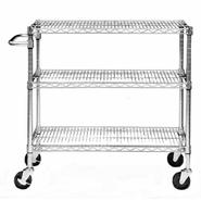 Trinity Home Entertainment EcoStorage&#153 3-Tier Cart - Chrome at Kmart.com
