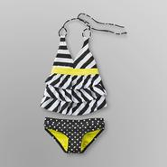 Joe Boxer Girl's Ruffle Tankini - Stripes & Dots at Sears.com
