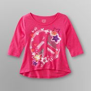 Canyon River Blues Girl's Cropped T-Shirt - Peace Sign at Kmart.com