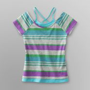 Canyon River Blues Girl's Striped Top - Layered Look at Sears.com