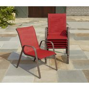 Garden Oasis Benton Sling Stack Chair - Red at Sears.com