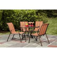 Garden Oasis Benton 5pc Dining Set Bundle - Red Stripe at Kmart.com