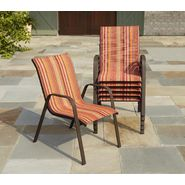 Garden Oasis Benton Sling Stack Chair - Red Stripe at Kmart.com