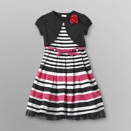 Youngland Girl's Formal Dress, Belt & Shrug - Striped at Sears.com