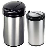 Nine Stars Infrared Motion Sensor Lid Open Trash Cans Combo - Stainless Steel 10.6/3.2-Gal at Kmart.com