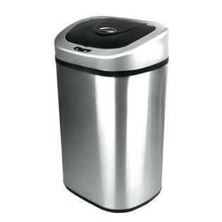 Nine Stars Infrared Motion Sensor Lid Open Trash Can - Stainless Steel 21.1-Gal