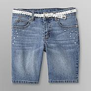 Canyon River Blues Girl's Belted Bermuda Denim Shorts at Sears.com