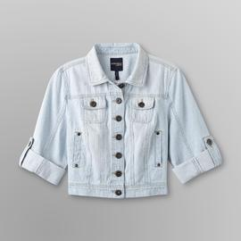 Junior's Denim Jacket - Stripes at Sears.com