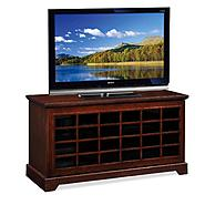 "Leick Riley Holliday Two-way Sliding Grid Door, 50""W TV Stand - Chocolate Oak at Kmart.com"