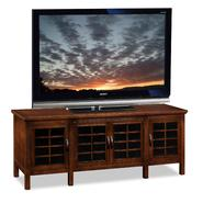 "Leick Riley Holliday Grid Black Glass, 60""W TV Stand - Chocolate Cherry at Kmart.com"