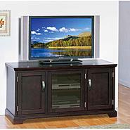 "Leick Riley Holliday  50"" TV Stand with Storage - Chocolate Cherry at Kmart.com"