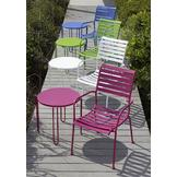 Garden Oasis Metal Stackable Side Table - Pink at mygofer.com