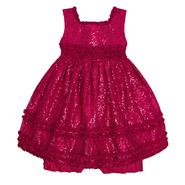 American Princess Infant Girl's Party Dress - Sequins & Satin Ruffles at Sears.com