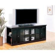 "Leick Riley Holliday Black Rub 62"" TV Stand with Storage at Kmart.com"
