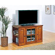"Leick Riley Holliday Burnished Oak 42"" TV Stand with Storage at Kmart.com"