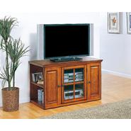 "Leick Riley Holliday Burnished Oak 42"" TV Stand with Storage at Sears.com"