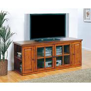 "Leick Riley Holliday Burnished Oak 62"" TV Stand - With Storage at Sears.com"