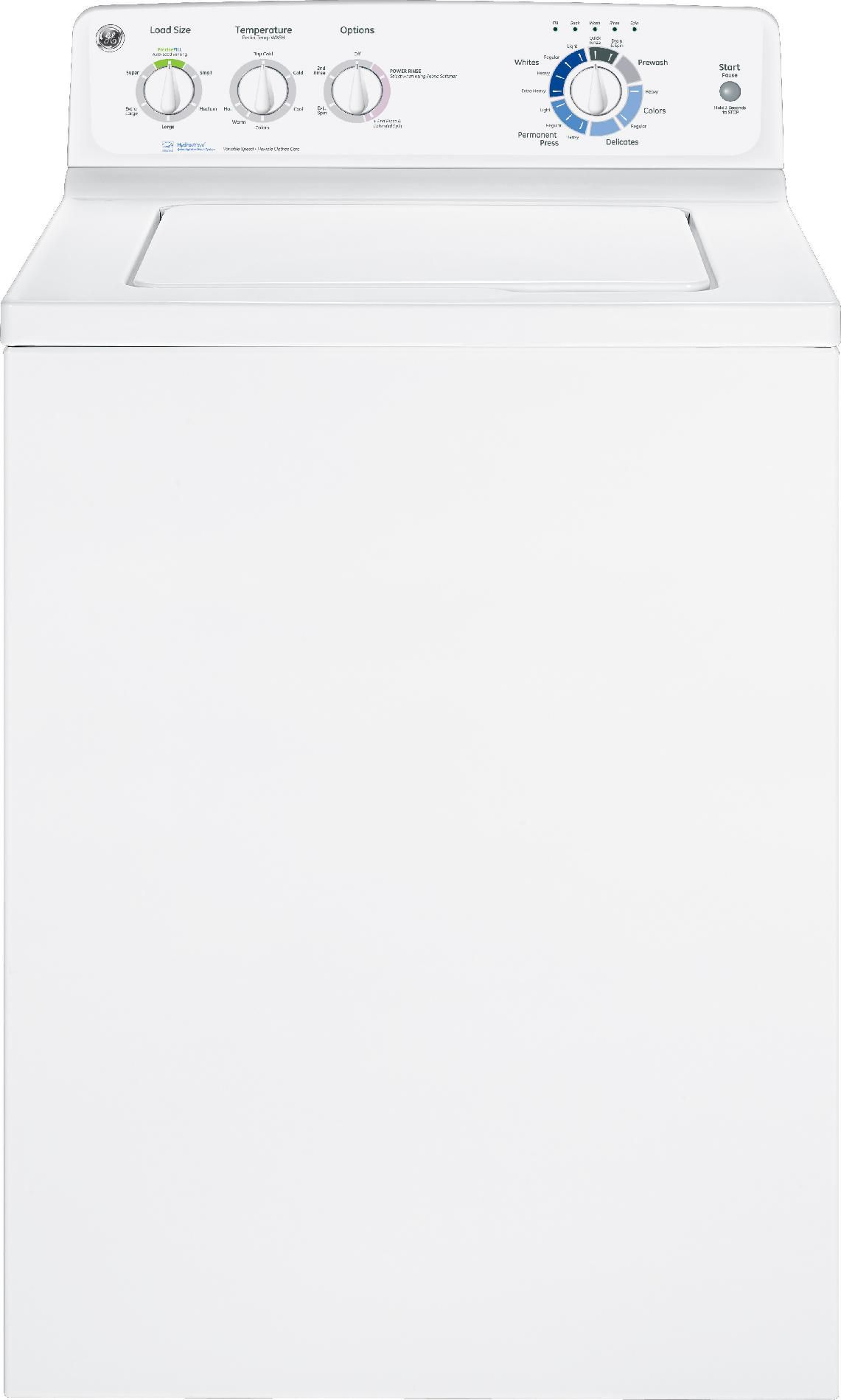GE 3.7 cu. ft. Top-Load Washer - White