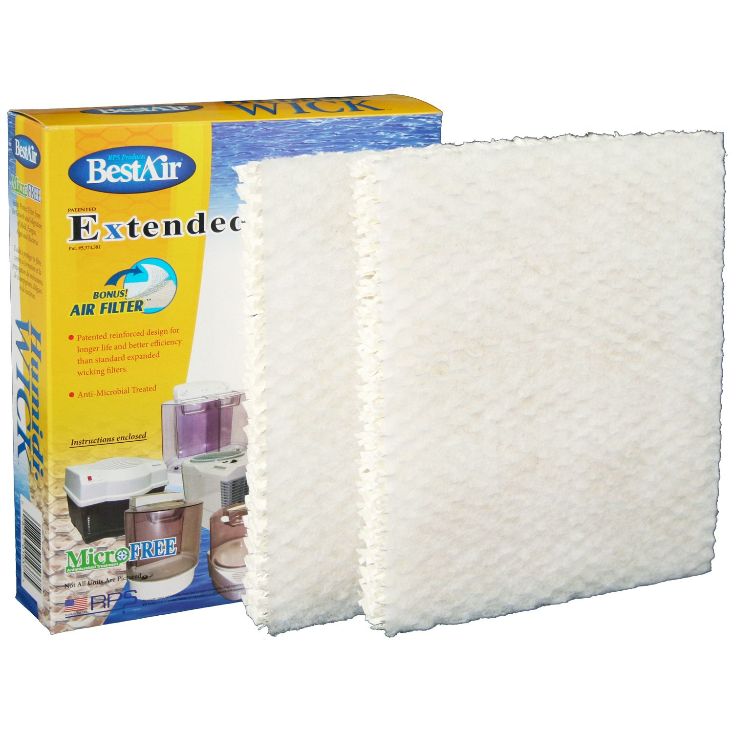 BESTAIR  Humidi-WICK Humidifier Wick Filter - Universal